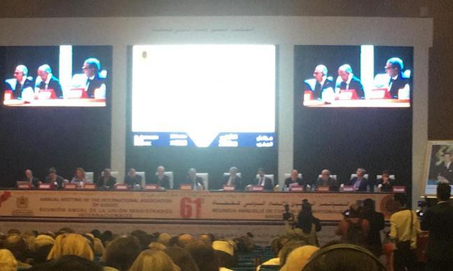 حضور المجلس الوطني لخبراء العدل في  المؤتمر  (61) للاتحاد الدولي للقضاة خلال الفترة ما بين 14 و18 أكتوبر 2018  بمراكش