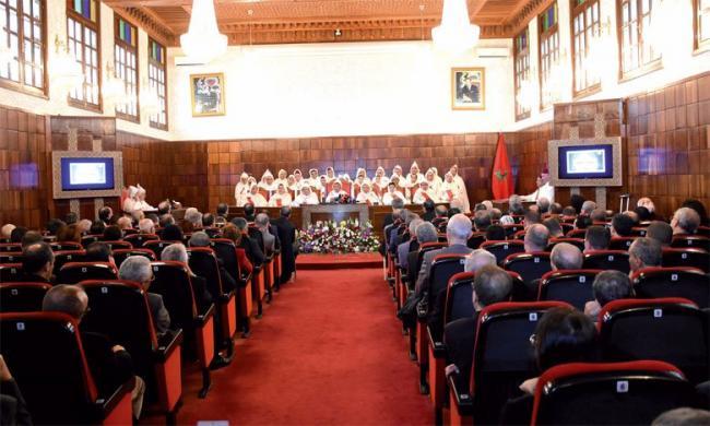 حضور المجلس الوطني لخبراء العدل  لحفل افتتاح السنة القضائية الجديدة 2019 بناءا على دعوة السيد الرئيس الاول