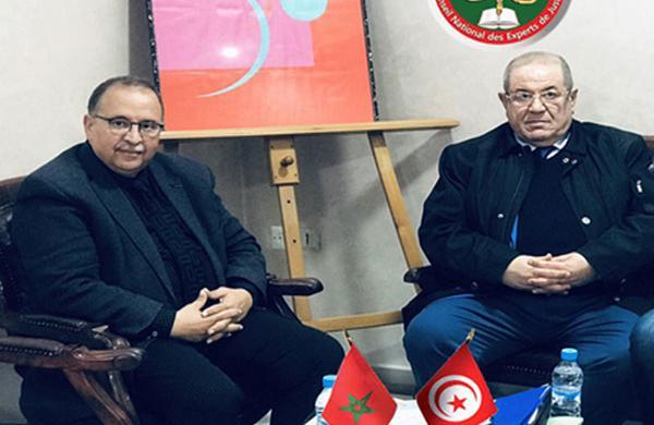 زيارة تعاون للكاتب العام للجمعية الوطنية للخبراء العدليين التونسيين