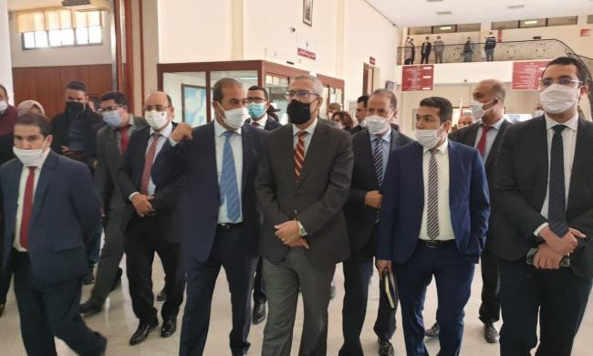 بدعوة من وزراة العدل حضر المجلس الوطني لخبراء العدل لأشغال تفقد ورش قسم قضاء الاسرة بالمحكمة الابتدائية ببنسليمان.