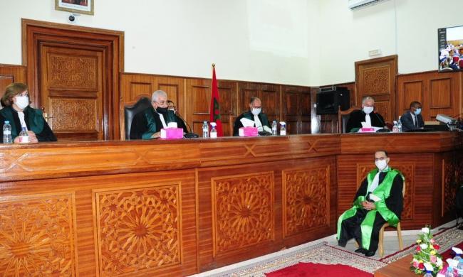 حضور المجلس الوطني لخبراء العدل لمراسيم تنصيب الرئيس الأول الجديد لمحكمة الاستئناف بالرباط يوم 2021/08/02,