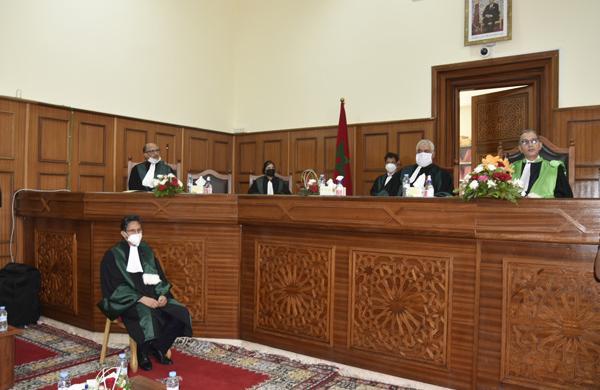 حضور المجلس الوطني لخبراء العدل لمراسيم تنصيب الوكيل العام للملك لمحكمة الاستئناف بالرباط يوم 2021/09/16,